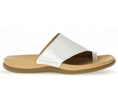 Gabor Lanzarote in white Patent Toe Post